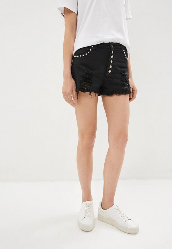 женские джинсовые шорты j.b4, черные