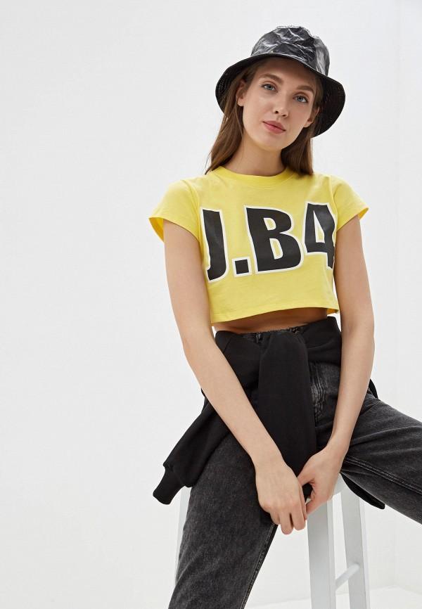 женский топ j.b4, желтый