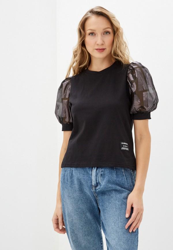 женская футболка j.b4, черная