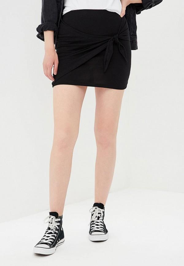 женская прямые юбка jennyfer, черная