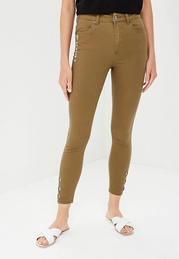 женские зауженные брюки jennyfer, хаки