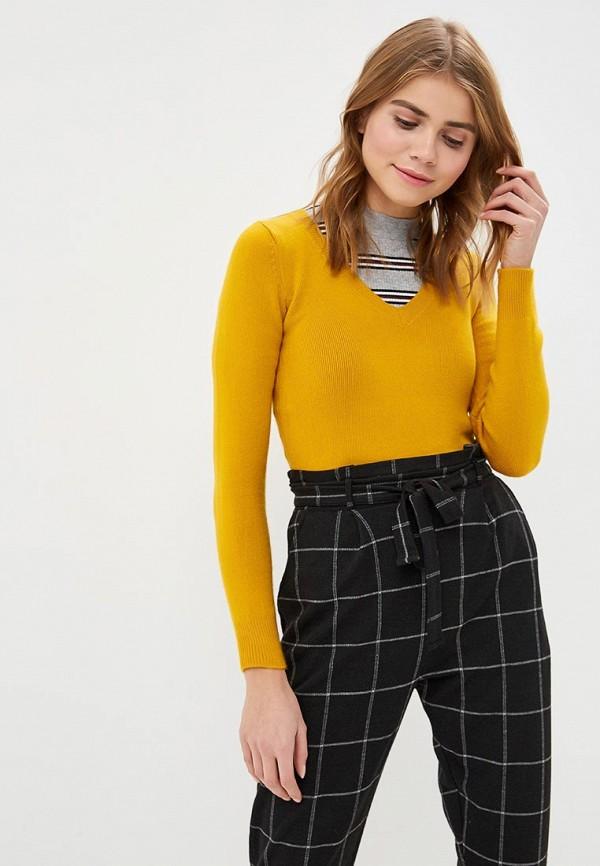 женский пуловер jennyfer, желтый