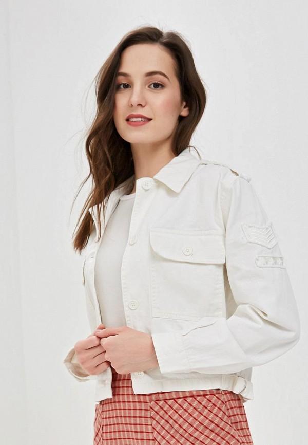 женская джинсовые куртка jennyfer, белая