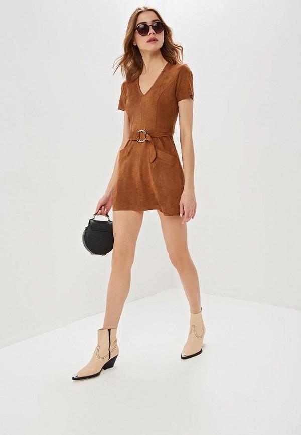 Фото 2 - Женское платье Jennyfer коричневого цвета