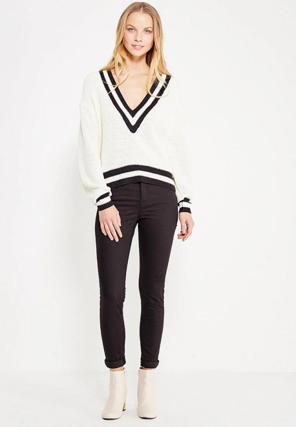 Фото 2 - женские брюки Jennyfer черного цвета
