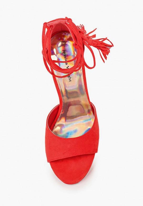 Фото 4 - женские босоножки Jessica Wright красного цвета