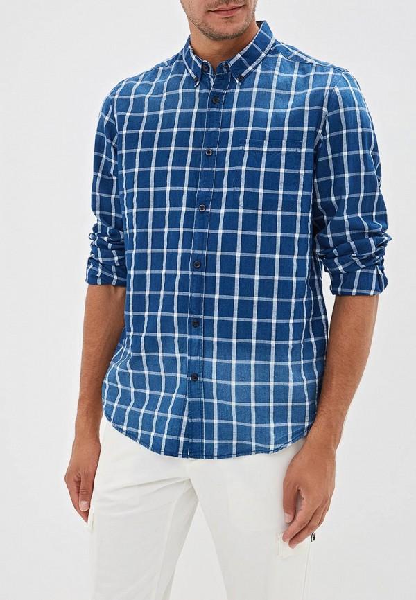 мужская рубашка с длинным рукавом j. hart & bros, синяя