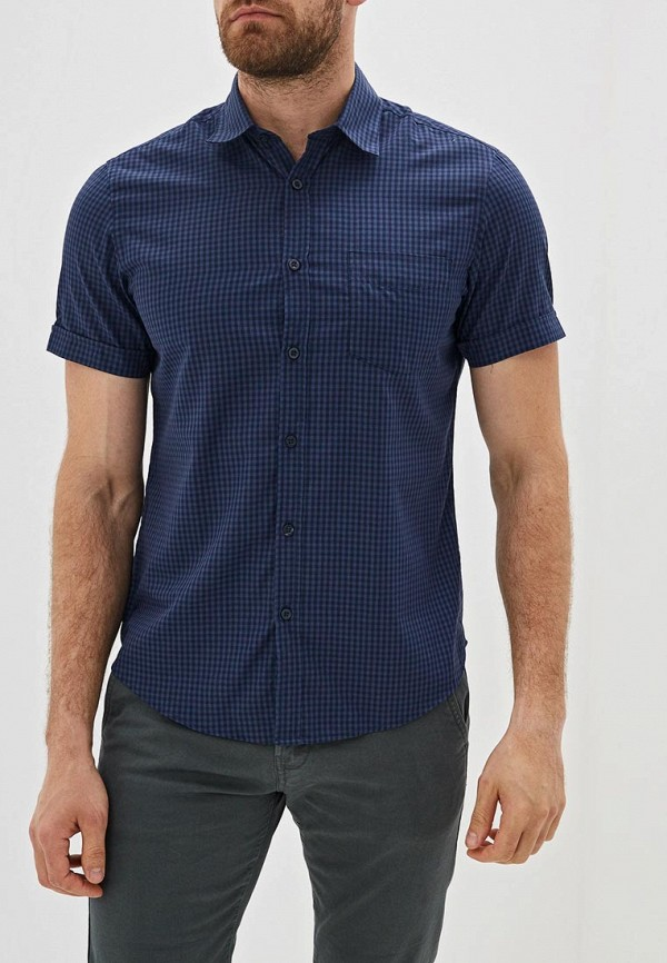 мужская рубашка с коротким рукавом j. hart & bros, синяя
