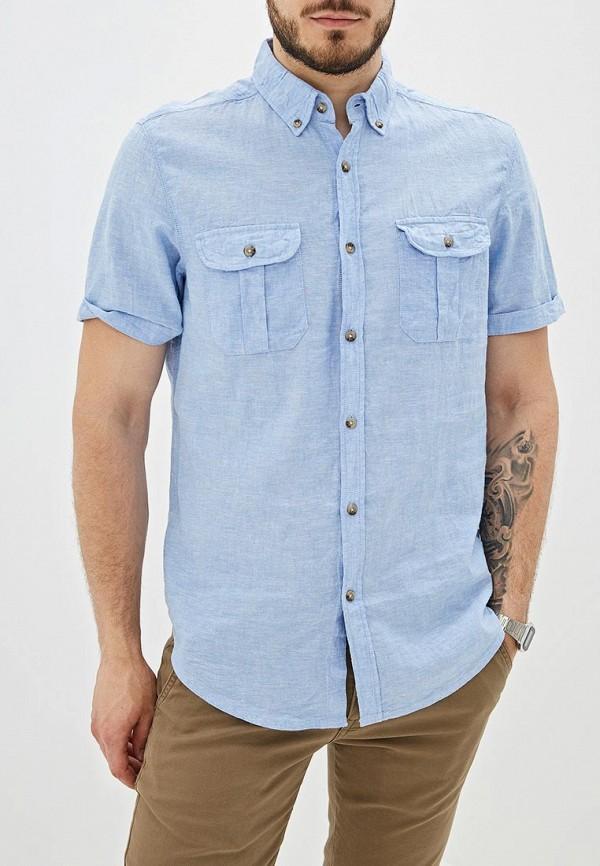 мужская рубашка с коротким рукавом j. hart & bros, голубая
