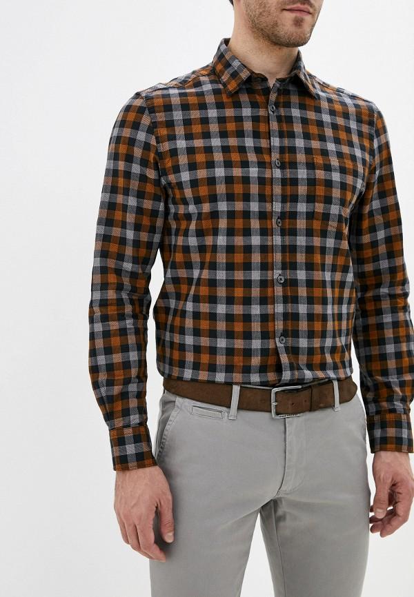 мужская рубашка с длинным рукавом j. hart & bros, коричневая