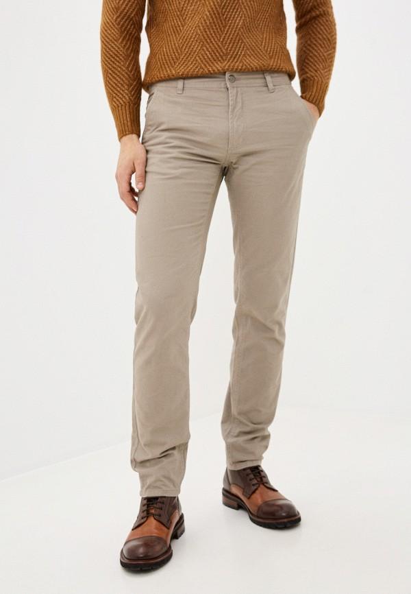 мужские зауженные брюки j. hart & bros, бежевые