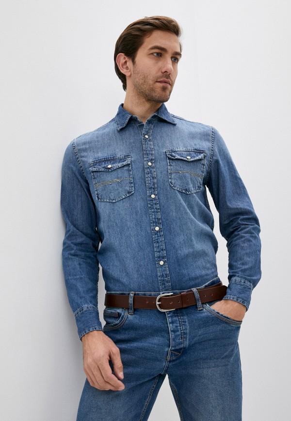 мужская джинсовые рубашка j. hart & bros, голубая