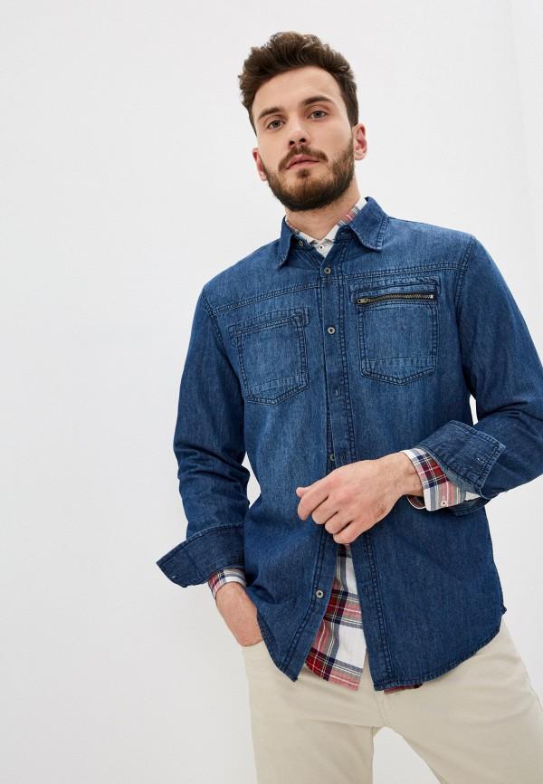 мужская джинсовые рубашка j. hart & bros, синяя