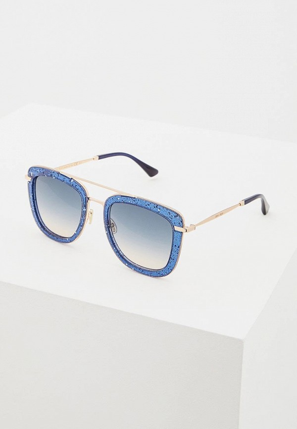 женские солнцезащитные очки jimmy choo, синие