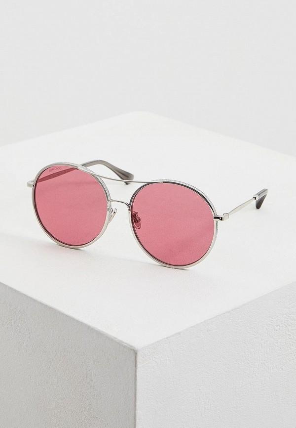 женские солнцезащитные очки jimmy choo, серебряные