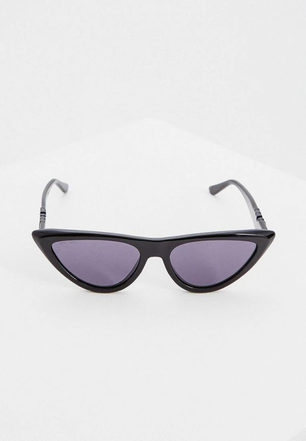Фото 2 - Очки солнцезащитные Jimmy Choo черного цвета