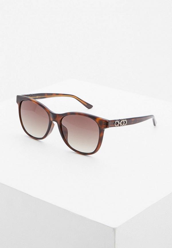 женские солнцезащитные очки jimmy choo, коричневые