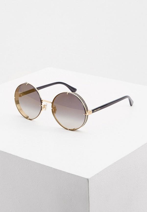 женские солнцезащитные очки jimmy choo, золотые