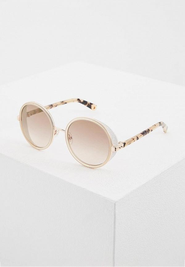 женские солнцезащитные очки jimmy choo, бежевые