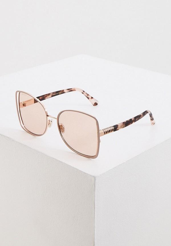 женские солнцезащитные очки кошачьи глаза jimmy choo, розовые