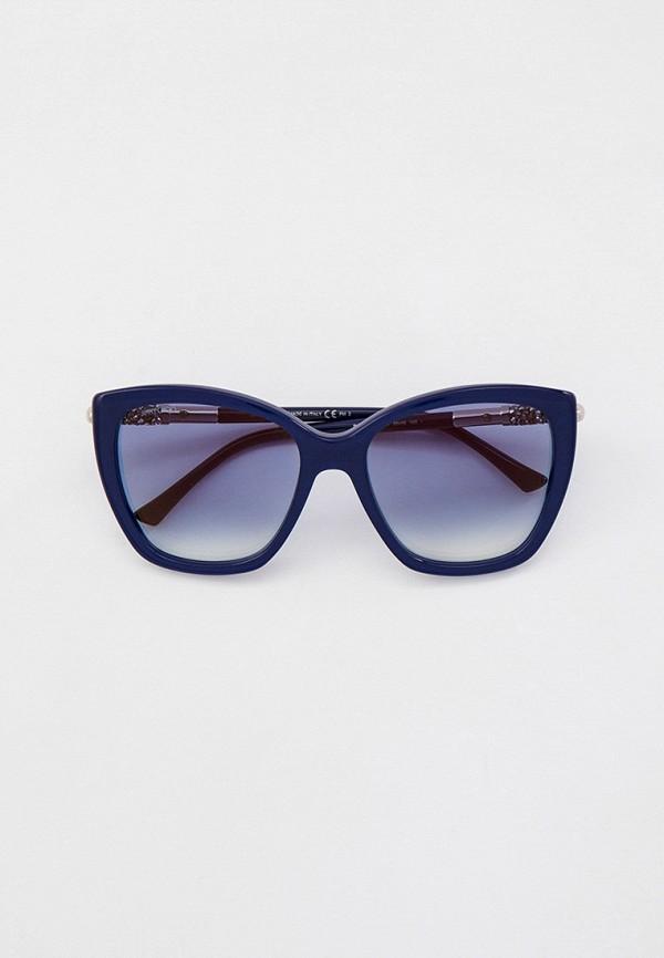 женские солнцезащитные очки кошачьи глаза jimmy choo, синие