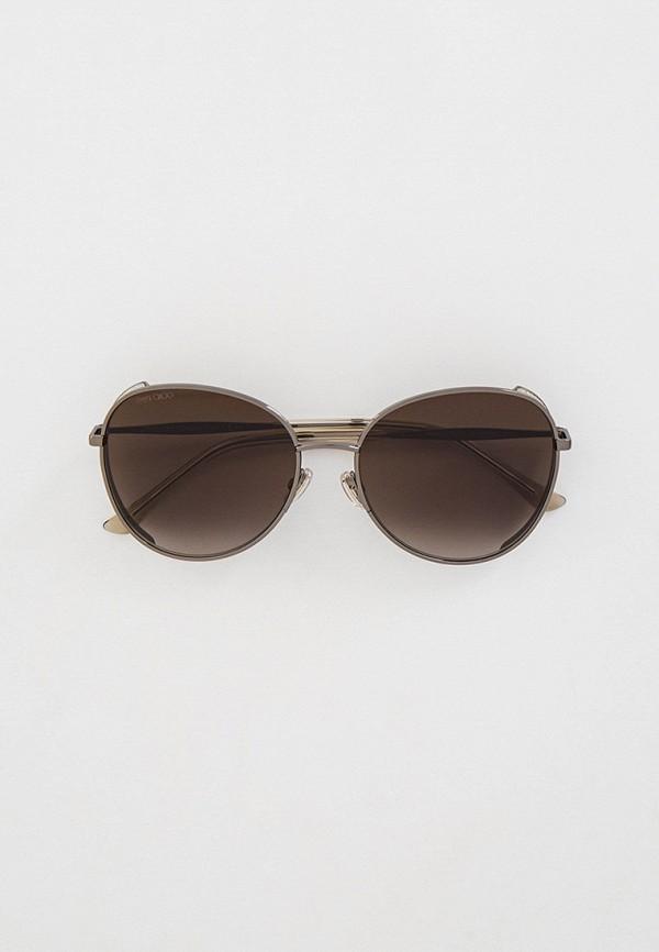 женские авиаторы солнцезащитные очки jimmy choo, серебряные