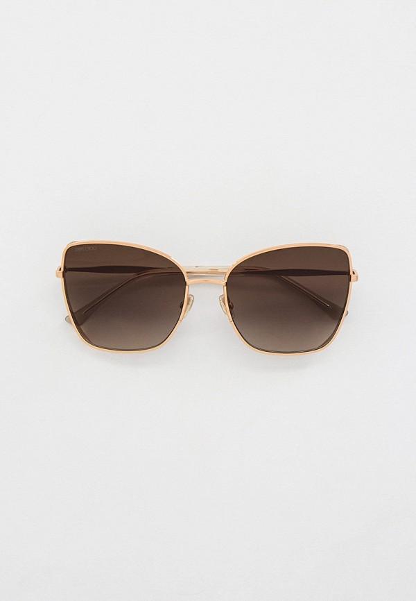 женские солнцезащитные очки кошачьи глаза jimmy choo, золотые