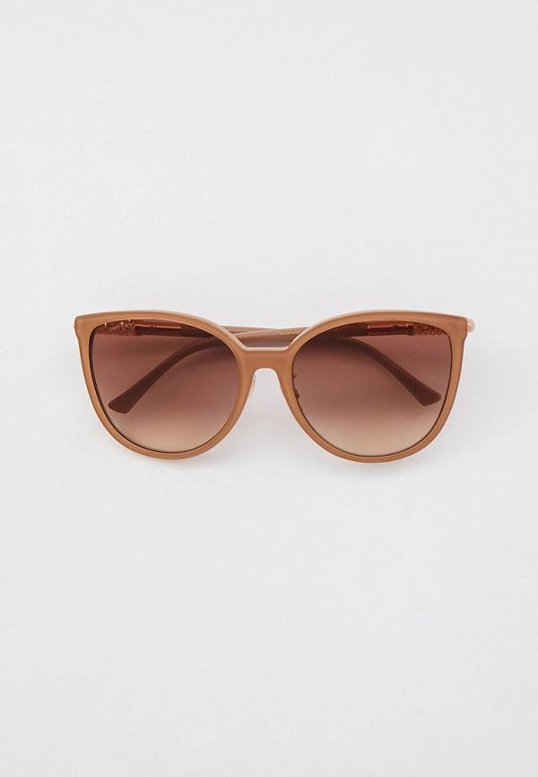 женские солнцезащитные очки кошачьи глаза jimmy choo, бежевые