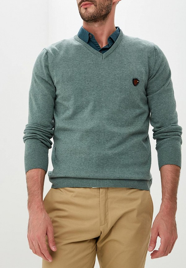 Купить Пуловер Jimmy Sanders, JI006EMCIPX7, зеленый, Осень-зима 2018/2019