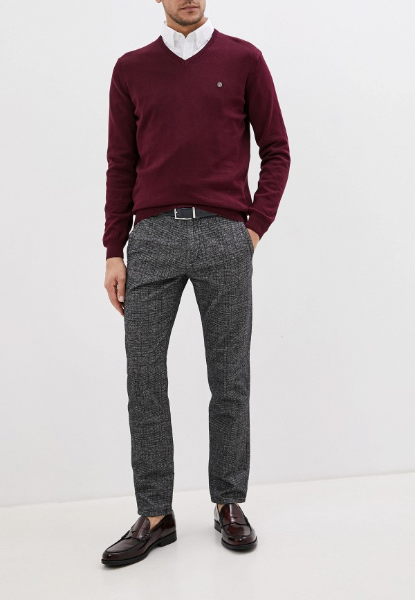 Фото 2 - Пуловер Jimmy Sanders бордового цвета