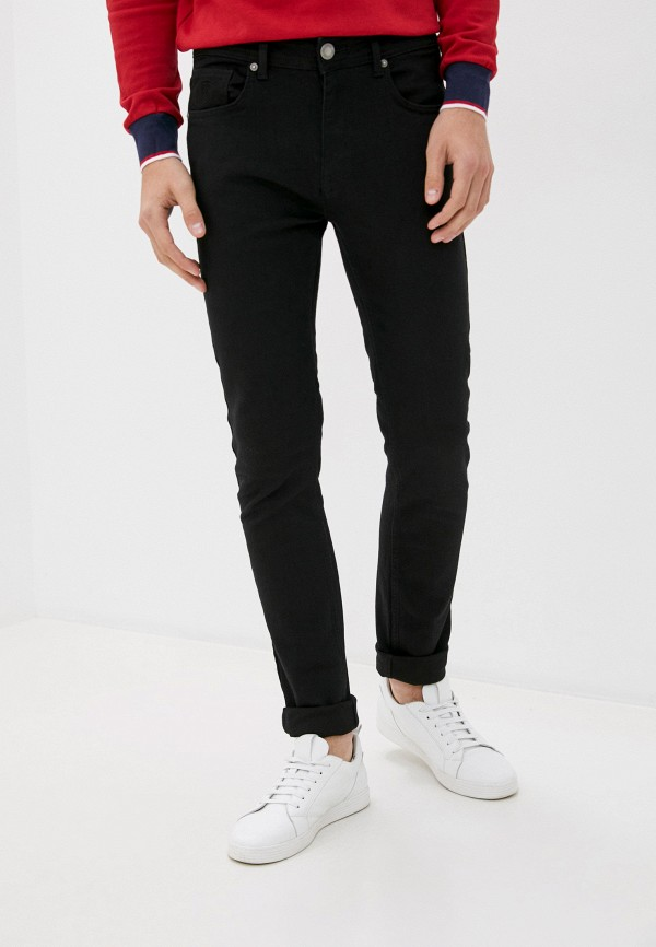 мужские зауженные джинсы jimmy sanders, черные
