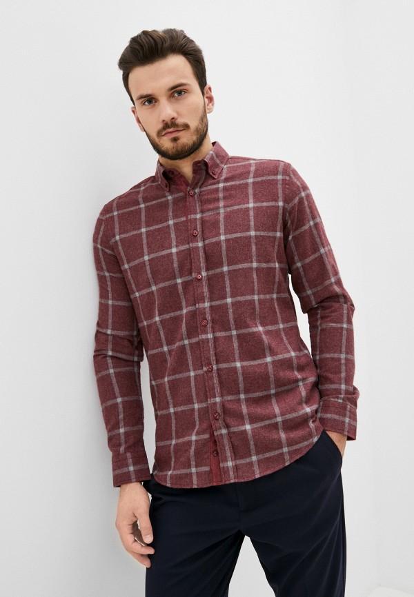 мужская рубашка с длинным рукавом jimmy sanders, бордовая
