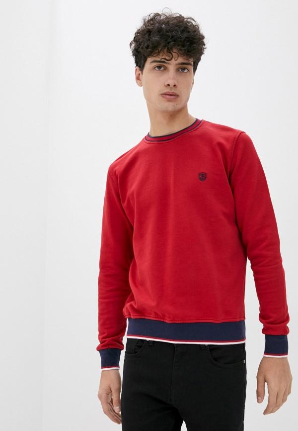 мужской свитшот jimmy sanders, красный