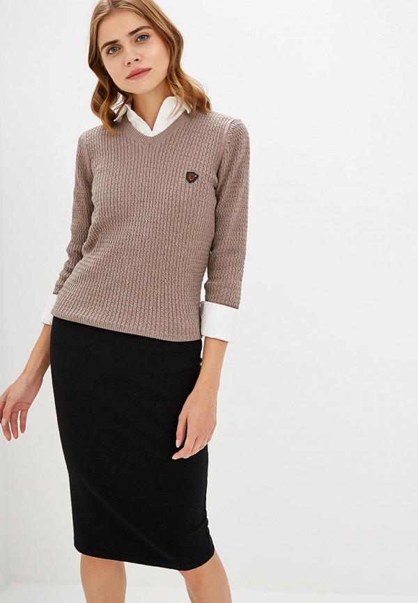Купить Пуловер Jimmy Sanders, ji006ewciqh4, бежевый, Осень-зима 2018/2019