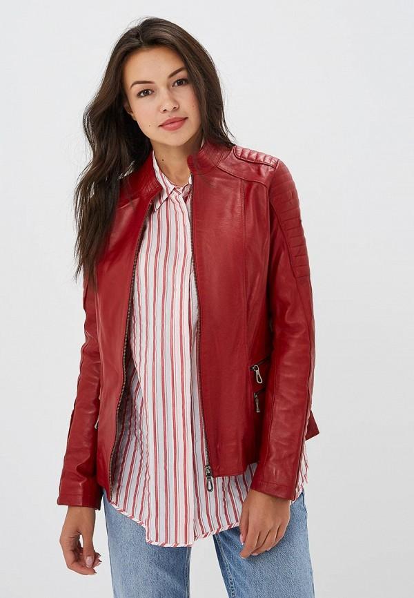 Купить Куртка кожаная Jimmy Sanders, JI006EWCIQJ5, красный, Осень-зима 2018/2019