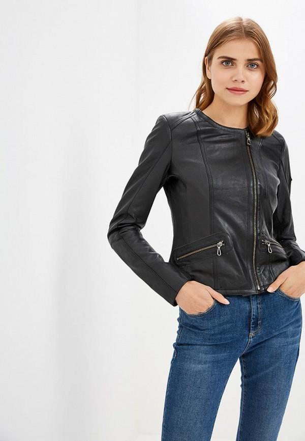 Купить Куртка кожаная Jimmy Sanders, JI006EWCIQJ9, черный, Осень-зима 2018/2019