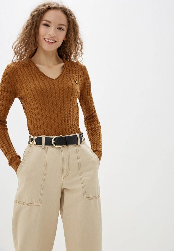 женский пуловер jimmy sanders, коричневый