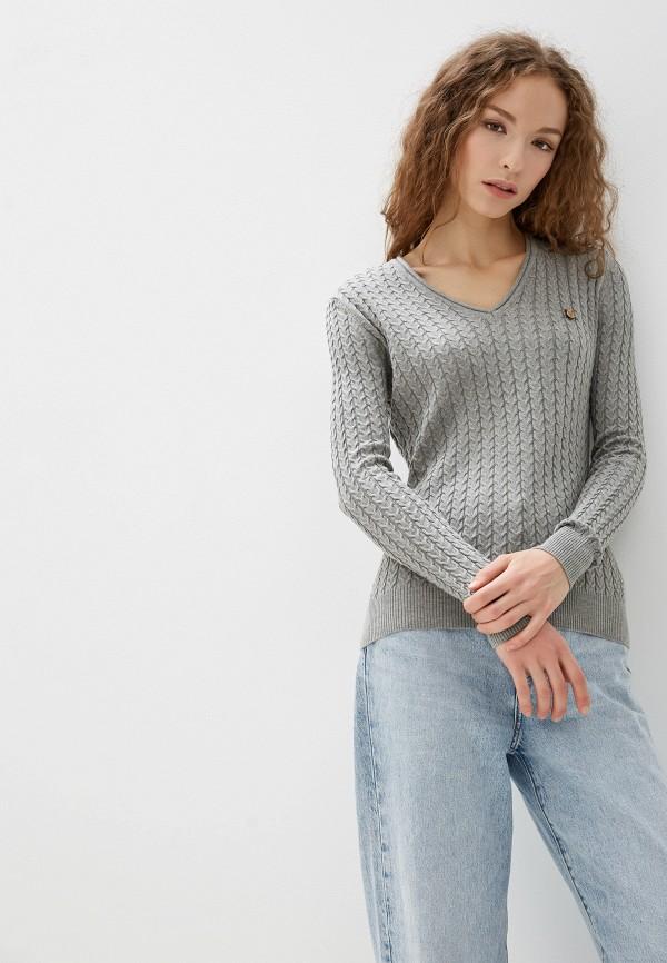 женский пуловер jimmy sanders, серый