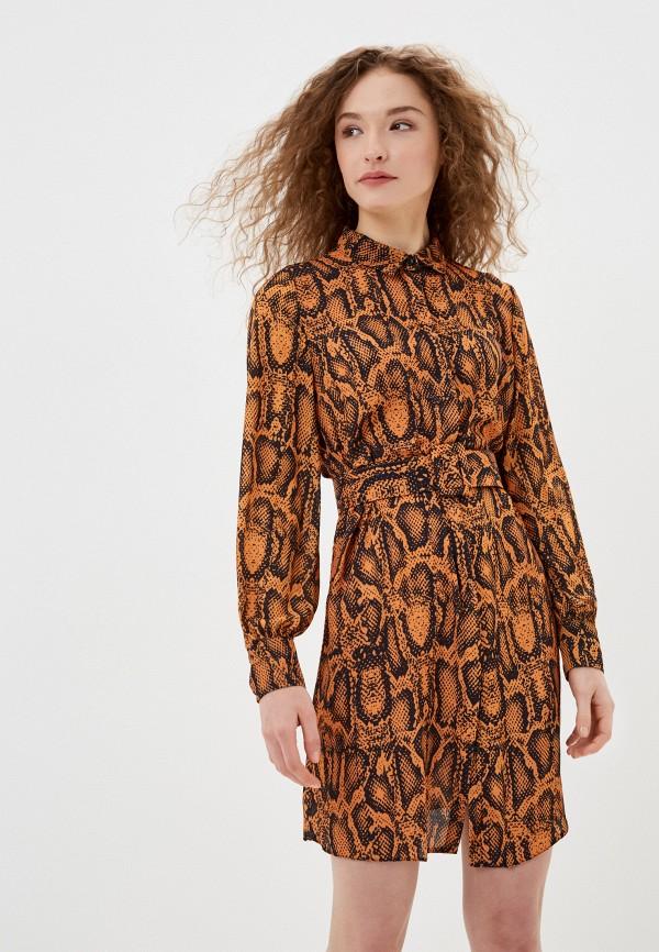 женское повседневные платье jimmy sanders, оранжевое