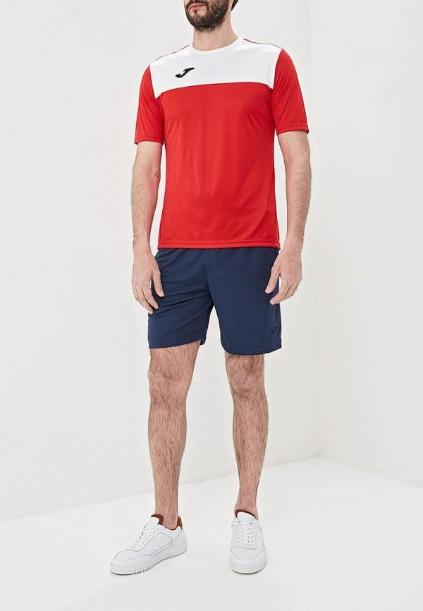 Фото 2 - Футболку спортивная Joma красного цвета