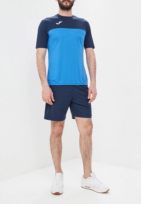 Фото 2 - мужскую футболку Joma синего цвета