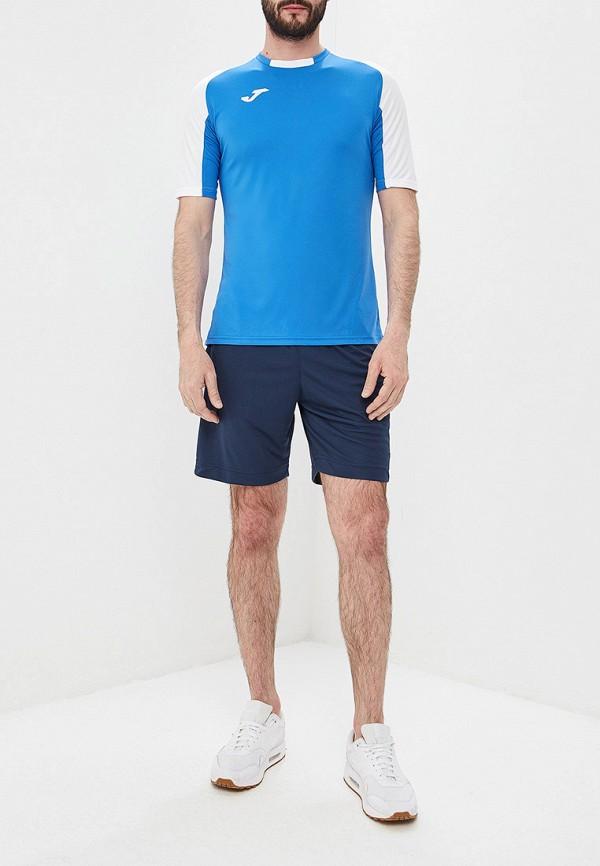 Фото 2 - мужскую футболку Joma голубого цвета