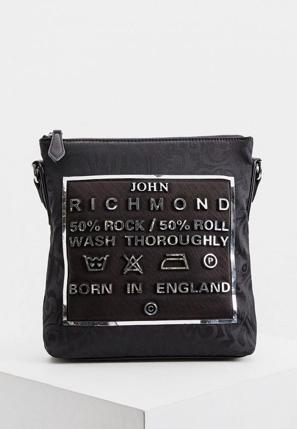 мужская сумка john richmond, черная