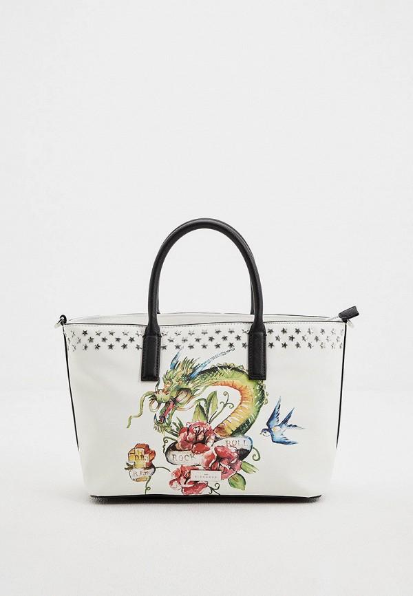 женская сумка с ручками john richmond, белая