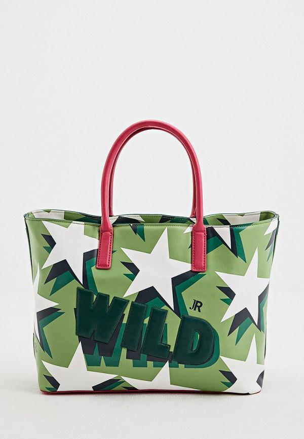 женская сумка john richmond, зеленая