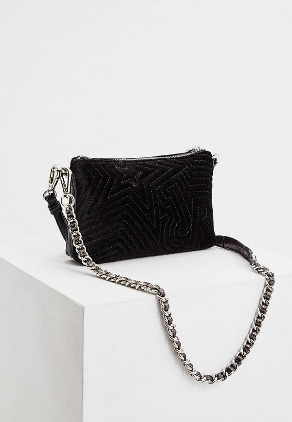 Фото 2 - Женскую сумку John Richmond черного цвета