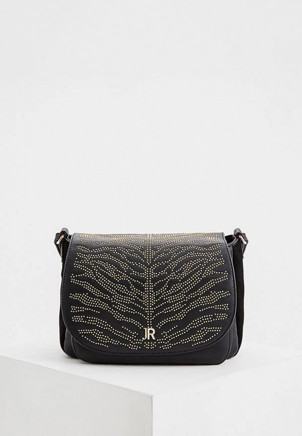 женская сумка через плечо john richmond, черная