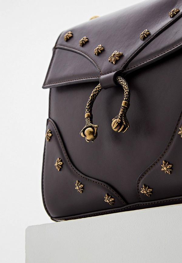 Фото 3 - Женскую сумку John Richmond коричневого цвета