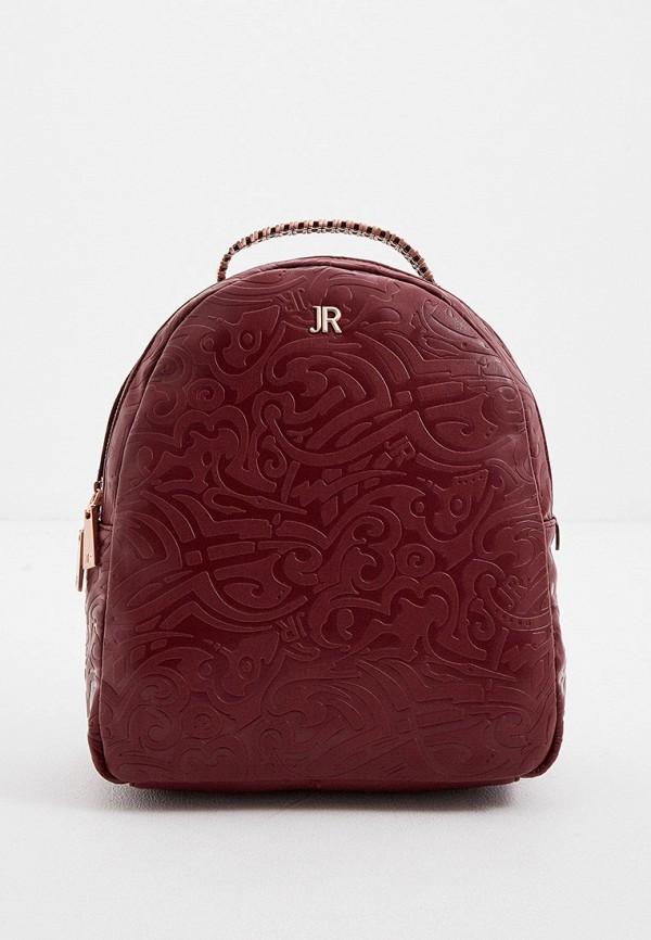 женский рюкзак john richmond, бордовый