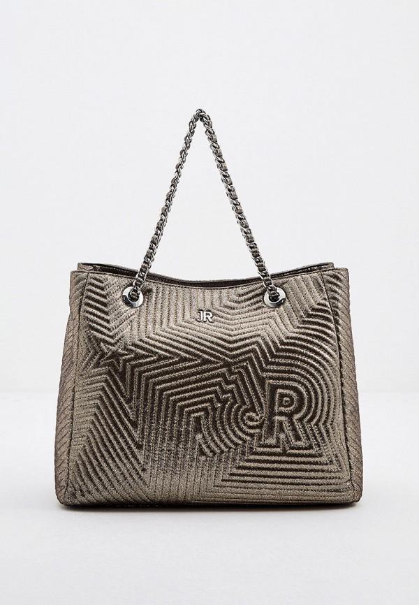 женская сумка с ручками john richmond, золотая